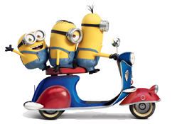 Minions on Scooter